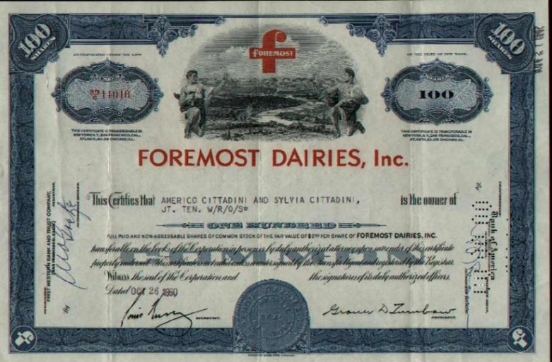 1967 Foremost Dairies